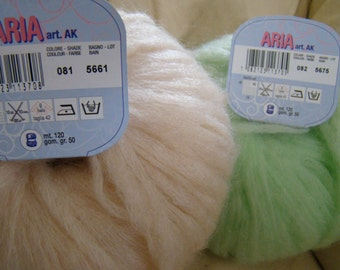 Free shipping - Mohair from Adriafil (Italy) - Aria - precious mohair yarn - SALE -  4.99 USD instead of 8.00 USD