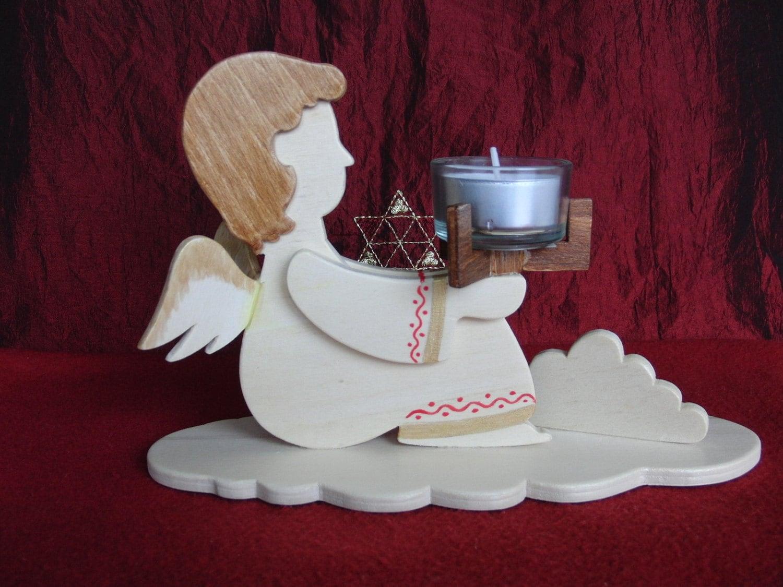 Christmas Tea Light Holder Angel X Mas Tealight Unique German