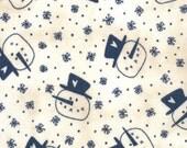 1/2 Yard Snowman Gatherings - Primitive Snowmen Heads on Creamy White by Primitive Gatherings for Moda Fabrics