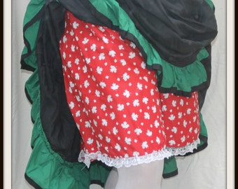 Renaissance Cosplay Bright Red Maple Leaf Canadian Bloomers Fits up to 2XL