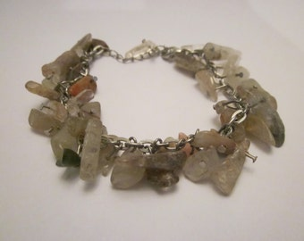 Quartz Gemstone Chip Bracelet Free Shipping