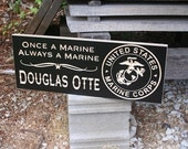 Military Retirement Sign, Armed Forces Sign, Military Retirement Gift, USMC Retirement Plaque, Benchmark Custom Signs Maple MS