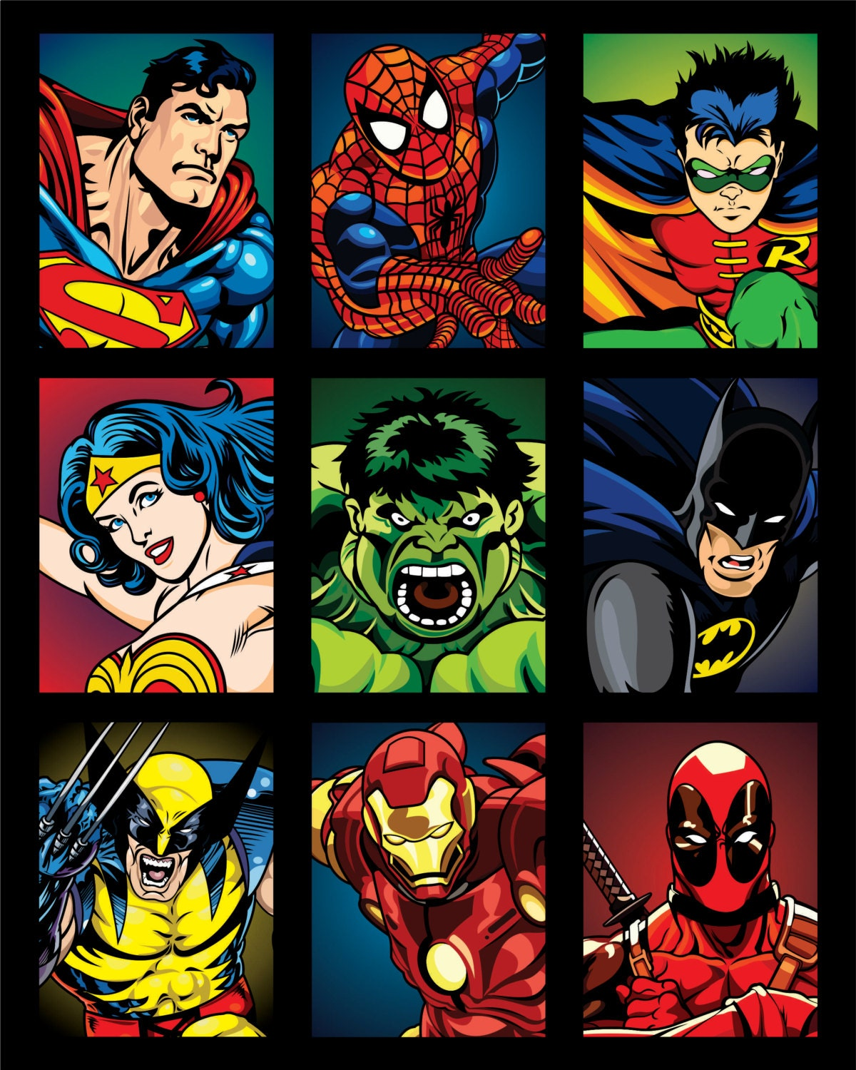 This is a picture of Wild Superhero Pictures to Print