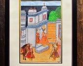 India poster painting Maharaja poster India Indian wall poster Rajasthan poster Indian miniature poster