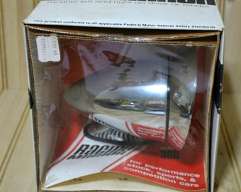 Vintage Roberk Racing Mirror Model 360 Performance Stock Sports Competition Cars Never Opened New Made in USA Dual Mount Fender Mount