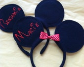Disney personalized Mickey Mouse or Minnie Mouse ears