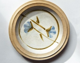 Australian Zen Studio Pottery, 1980s, Milton Moon, Stoneware Plate 4,