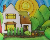 Commission  a drawing painting your special place. Unique personalised gift Great wedding present
