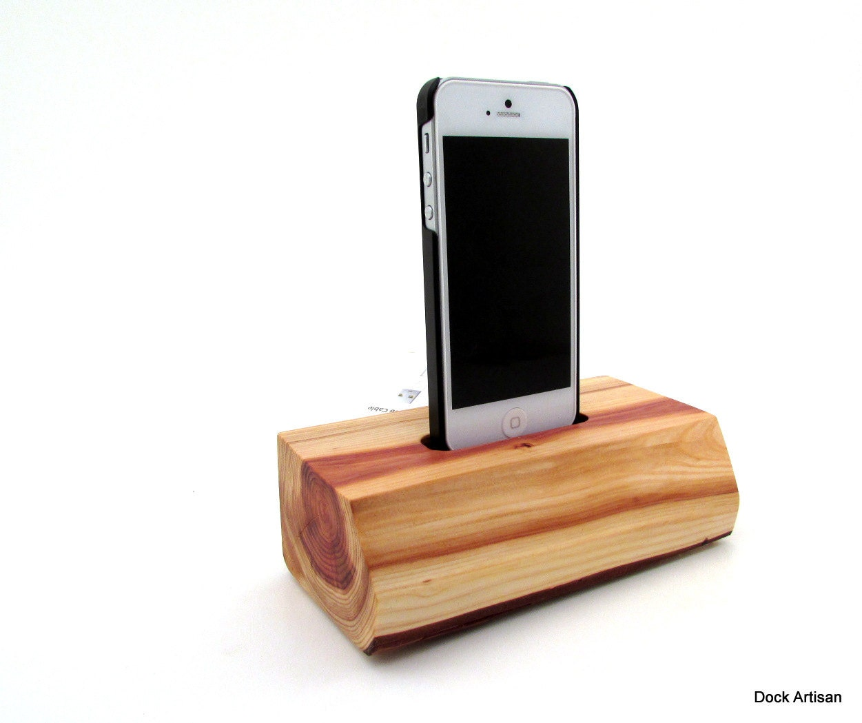 modern red wood iphone 5s docking station by dock by. Black Bedroom Furniture Sets. Home Design Ideas