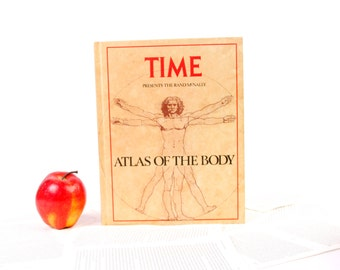 Book iPad Cover- Tablet Case made from a Book- Time- The Atlas of the Body- Leonardo DaVinci