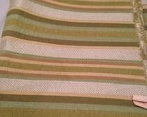 Green Striped Heavy Upholstry Fabric F11