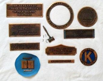Name Plaques (Metal) Vintage