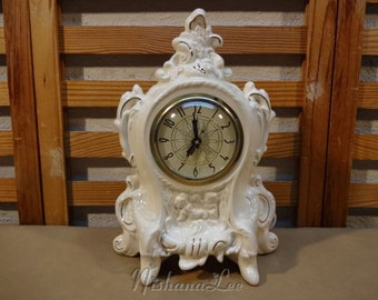 Vintage 1980 French Style Mantle Clock with a Lanshire Clock Movement