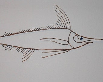 Copper Marlin Wall Art    FREE SHIPPING