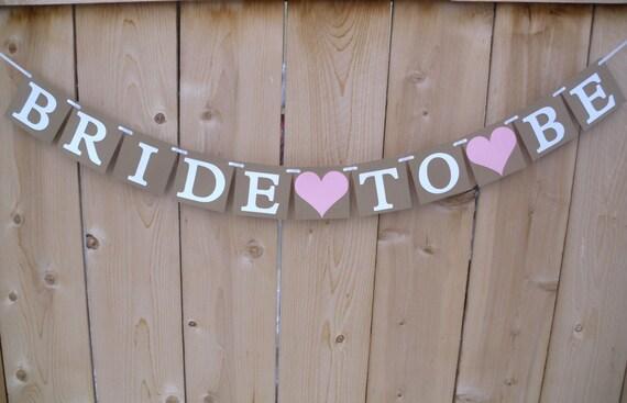 Bride to Be Banner-Custom Bridal Shower Sign-Wedding Photo