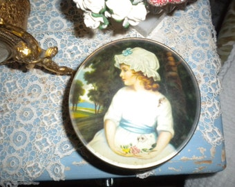 Charming Vintage Tin, French, French Country, Victorian