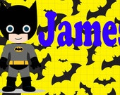 Personalized Super Hero Placemat
