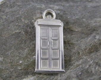 Tardis Charm (Sterling Silver, Bronze, Stainless Steel)