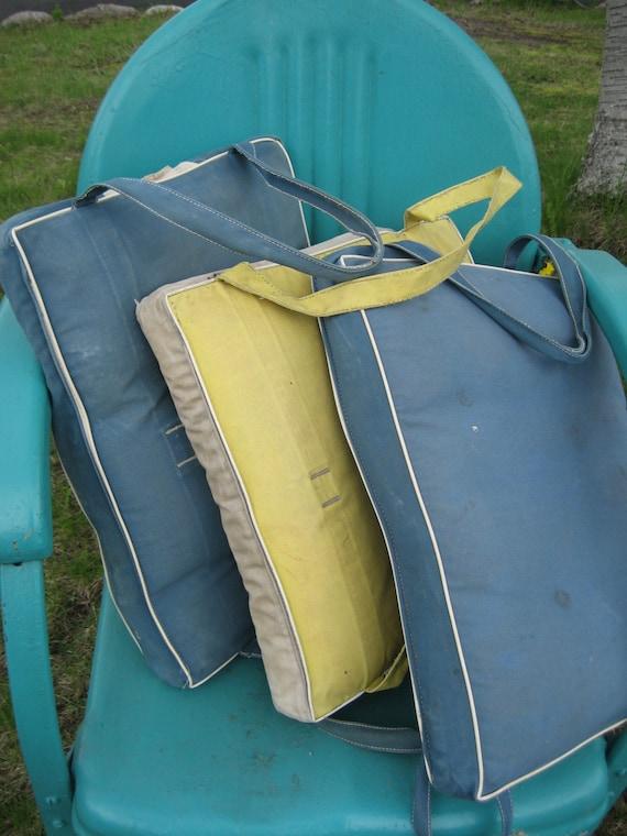 1950s Boat Seat Cushions Throwable Flotation Life By Mercymaud