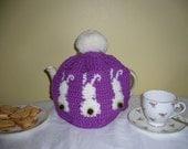 Three Bunny tea cosy