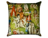 The Garden of Earthly Delights by Bosch (4) - Famous Art Sofa Throw Pillow