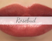 "Vegan Lipstick Sample - ""Rosebud"" (semi sheer natural red) natural lip tint, balm, lip colour vegan mineral lipstick"