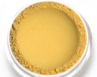 "Yellow Matte Eyeshadow - ""Daffodil"" - Vegan Mineral Eyeshadow Net Wt 2g Mineral Makeup Eye Color Pigment"