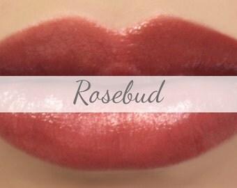 "Vegan Lipstick Sample - ""Rosebud"" (semi sheer natural red) natural lip tint, balm, lip colour vegan mineral lipstick"