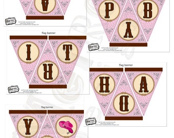 Instant Download - Pink Cowgirl Banner