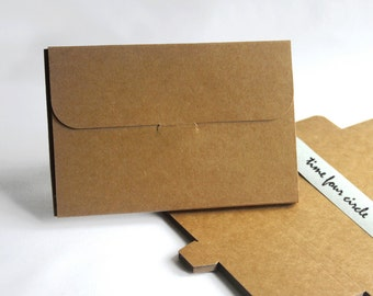 Set of 10, Kraft Post Card Gift Box, Favor, Gift, Party