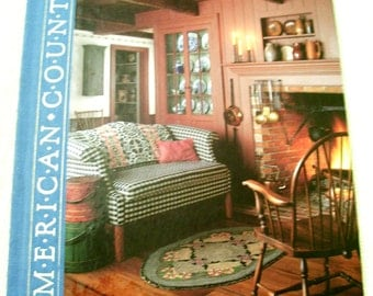 COUNTRY DECORATING American Country Series Hardcover Book Time Life Books 1988
