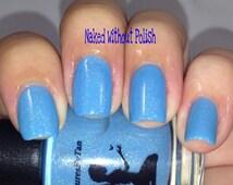Little Boy Blue (Holo): NURSERY RHYME COLLECTION, Blue, Holo, Spectraflair, Nail Polish, Polish, Lacquer, Boy, Little Boy, Baby Blue, Nails