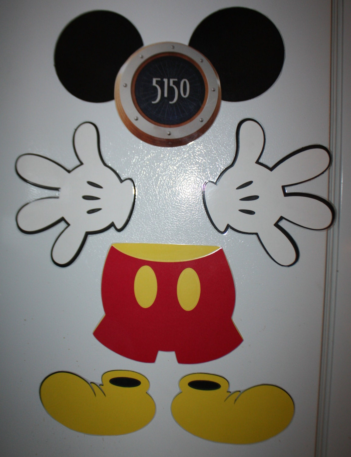Mickey Mouse Magnet Body Parts Laminated Door Design For