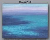 Large wall art, Coastal, Beach decor, Abstract, Canvas art print,Teal home decor,Navy blue,Violet,Purple,Seascape,Living room,Office,Bedroom