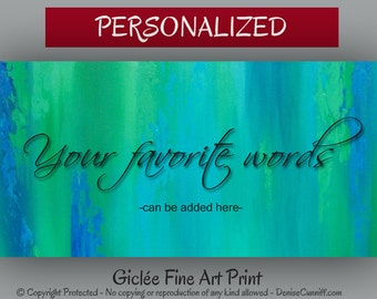 Master bedroom decor, Custom wall quote, Personalized art gift, Blue green decor, Teal decor Master bedroom art Motivational quote art print