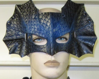 Leather Armor Dragon Scale Molded Mask