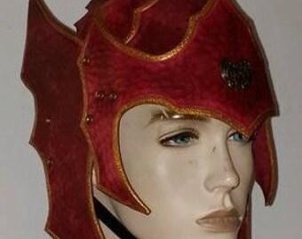 Leather Armor Gothic helmet