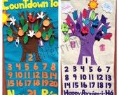Handmade Countdown to Naw Ruz or Happy Ayyam-i-ha Calendar