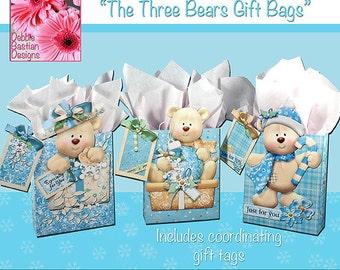The 3 Bears Gift Bags - Digital Download