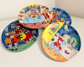 Vintage Sicilian Handpainted Plates from Saks Fifth Avenue, Set of 4, Made in Italy