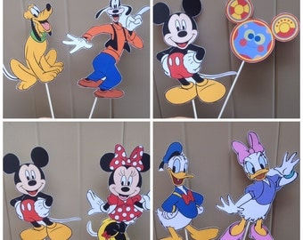 Mickey Mouse Clubhouse diy CENTERPIECE - Custom Made - Disney Inspired - Mickey Pluto Donald Goofy Daisy  - Mickey Mouse Clubhouse