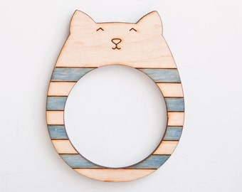 wooden photo frame magnets fridge magnets cat many color variations
