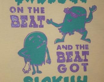 BEYONCE SHIRT - beat got sickuh - medium pale yellow 15/25