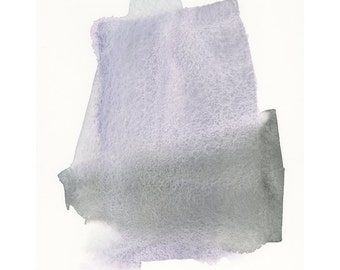 original watercolor painting, angular form, purple to grey, one of a kind contemporary art piece