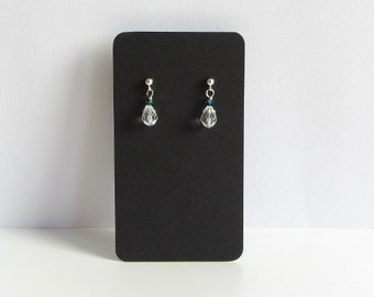 20 Black Earring Cards, 2 x 3.5 inch Jewelry Cards, Earring Tag, Rectangular Display Card, Jewelry Tag