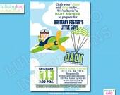 Airplane Baby Shower Invitations - Printed Baby Shower Invitations - Custom Invitations