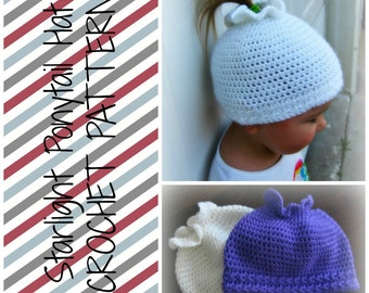Starlight Ponytail Hat - Crochet Pattern