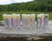 All Natural Lip Balm-Favors-Gifts-Maple,Boysenberry,Lime Mojito,Pomegranate-Belle Savon Vermont