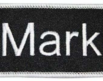 "Mark ""Mark"" Name Tag Uniform Identification Badge Embroidered Iron On Badge Applique Patch"