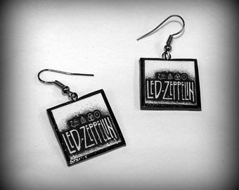 Led Zeppelin Earrings Handmade Polymer Clay